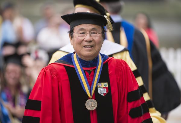 Image of Chancellor Henry T. Yang at UCSB commencement